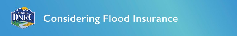 "Banner for Flood Insurance page reading ""Considering Flood Insurance"""