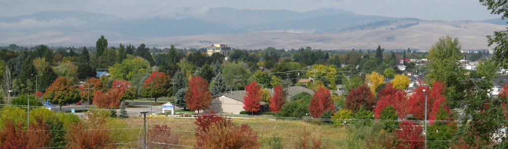 View from South Hills looking at Missoula Valley.