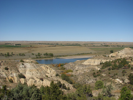 Yellowstone River in Prairie County
