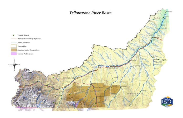 Yellowstone River watershed