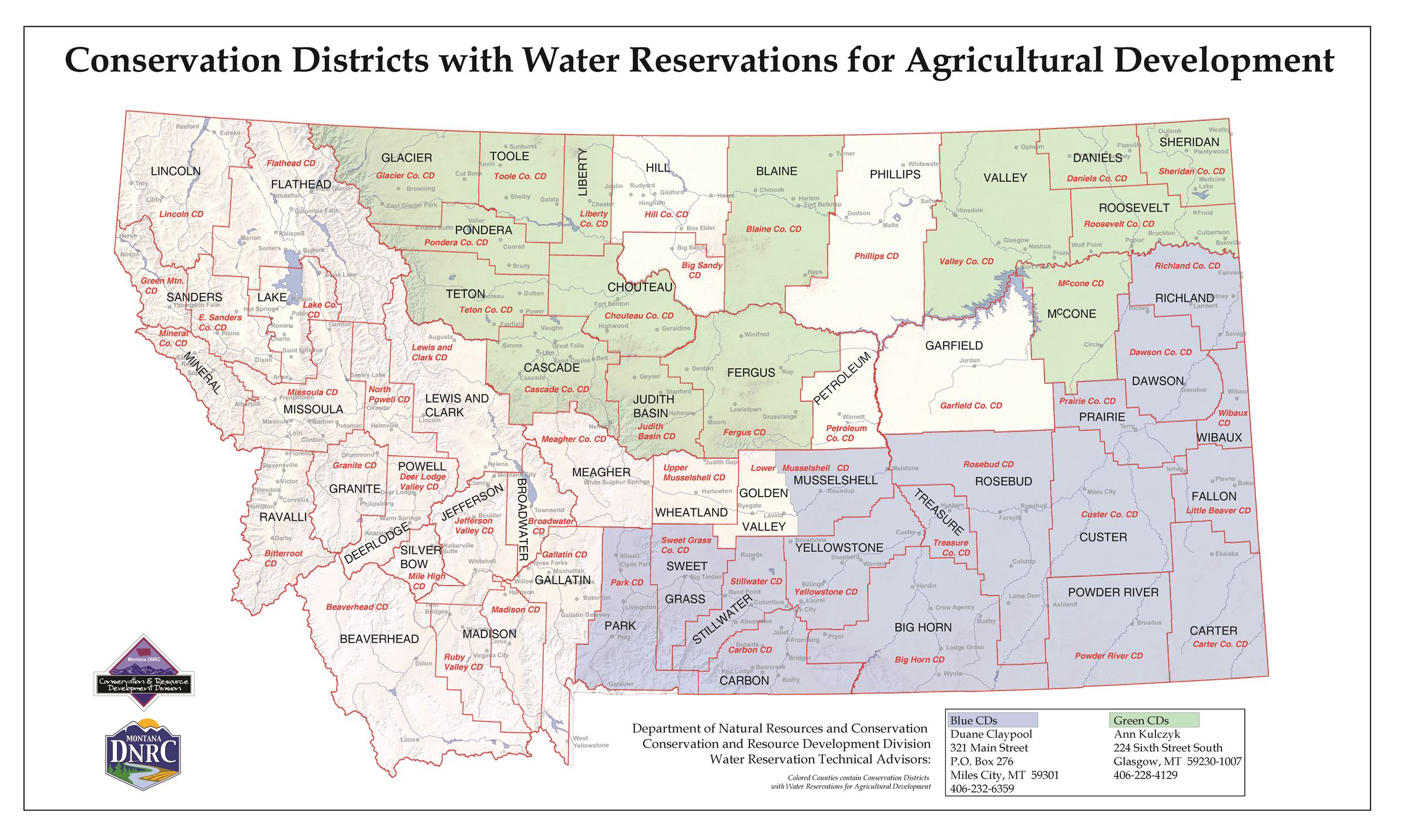 water reservation districts Map