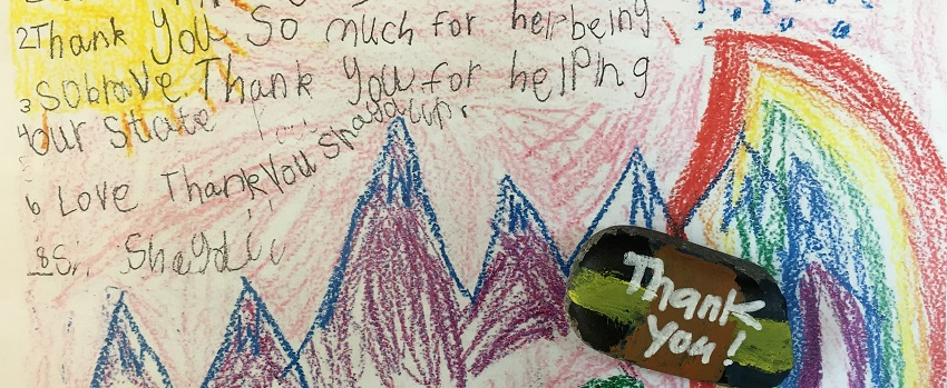 Thank you from Billings student to firefighters