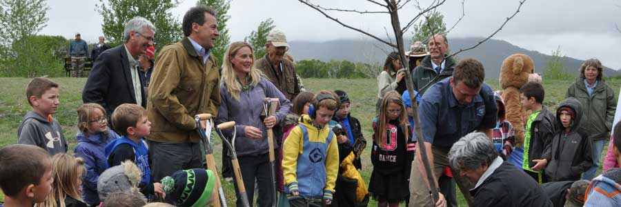 Governor Bullock Plants Arbor Day Tree
