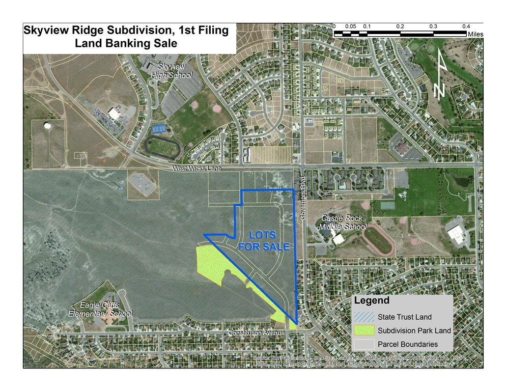 Skyview Ridge Sale Parcel Map