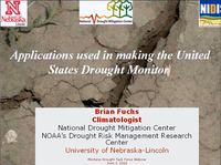 Applications Used in making the United States Drought Monitor